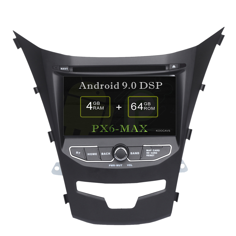 KOOCAVS 7 IPS Android 9.0 Car GPS DVD Radio Player for SsangYong Korando Actyon 2014 2015 with 4GB+64G Multimedia image