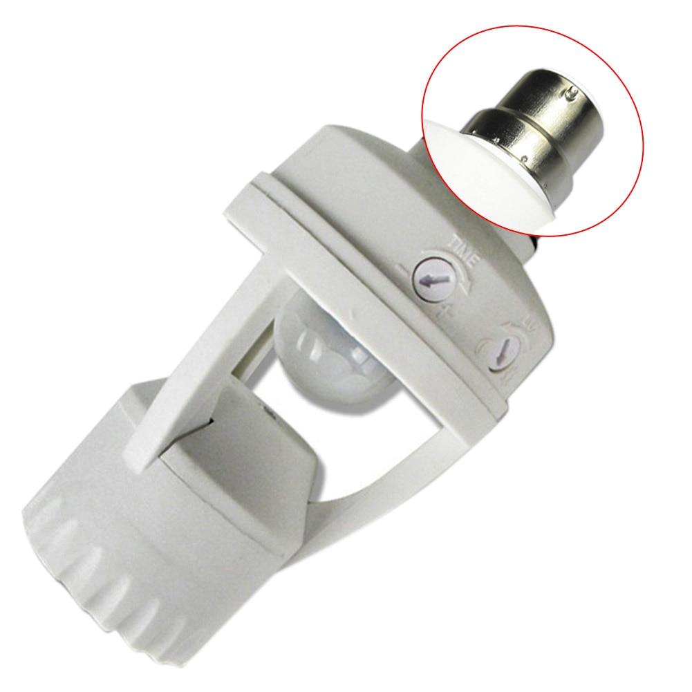 E14/B22 Infrared PIR Motion Sensor LED Light Lamp Bulb Holder Socket Switch 110-240V CLH@8
