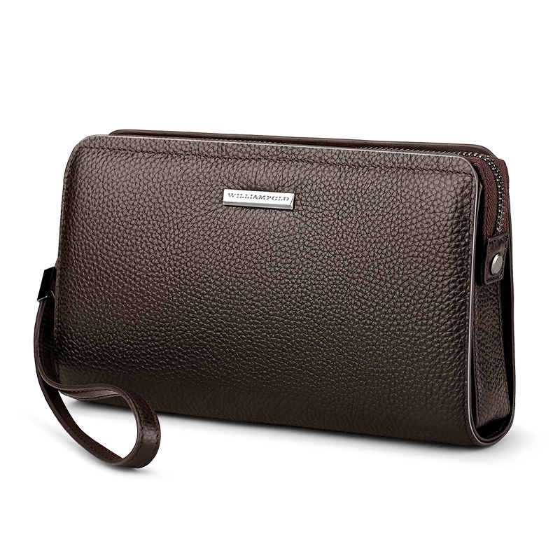 2019 Genuine Leather Mens Clutch Wallet With Coded Lock Men Wallet Business Man Clutch Purse Mens Handbag PL286