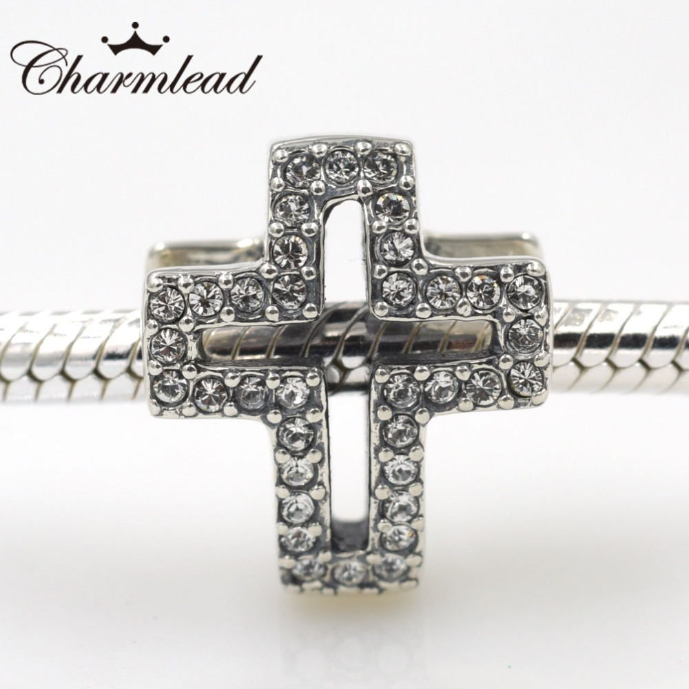 Original Beads: New Original 925 Sterling Silver Beads Pave Bling Stone