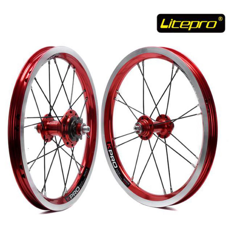 Litepro Kpro 14 inch Folding Bike Wheels Front Rear High Quality Single Speed Bicycle Wheelset ship from germany folding bike 20 6 speed bike folding college school sports bicycle high quality silver shimano