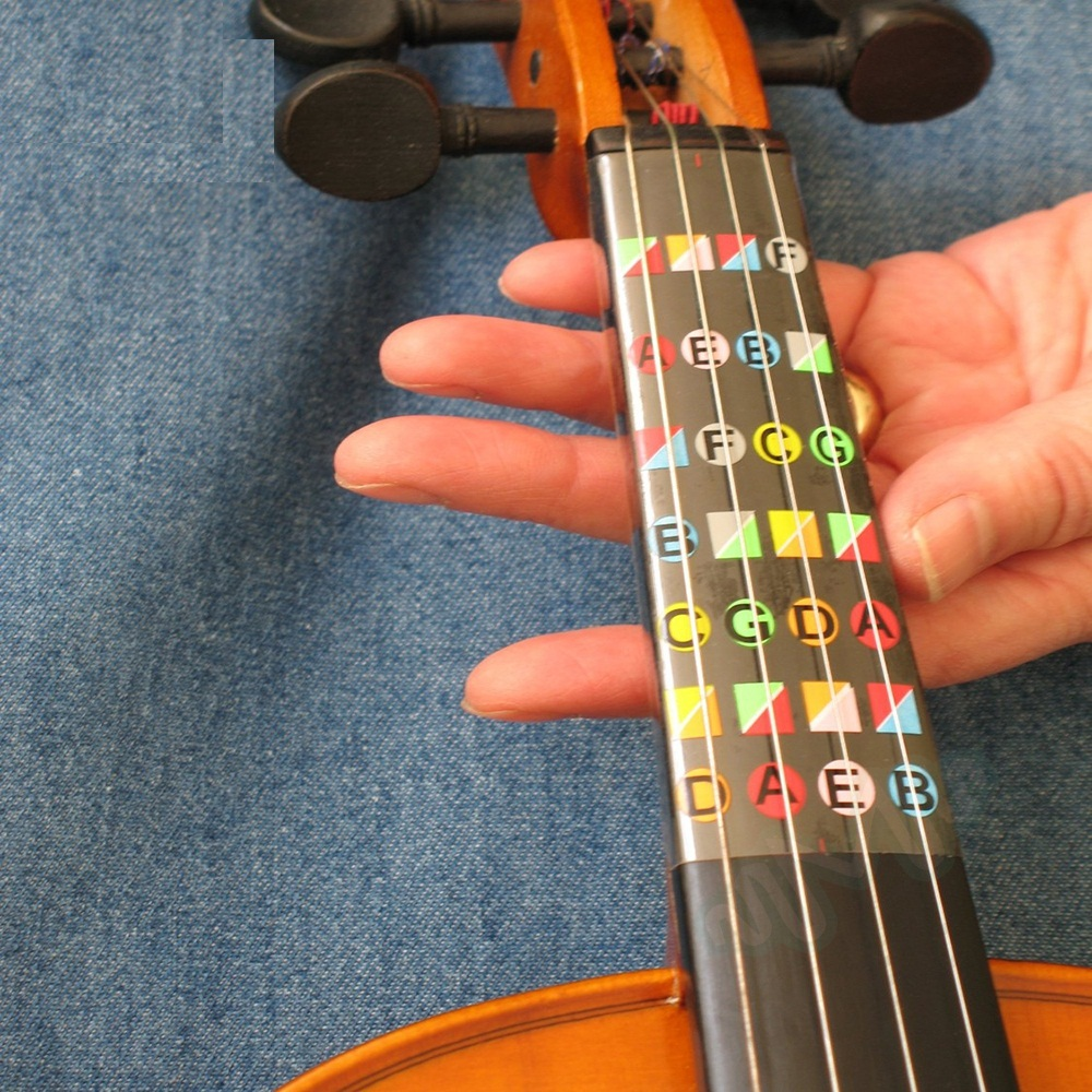 Violin Parts & Accessories Violin Beginer Learning Tools 4/4 Violin Fiddle Fingerboard Chord Note Stickers Fret Markers Labels Multicolor Musical Instruments