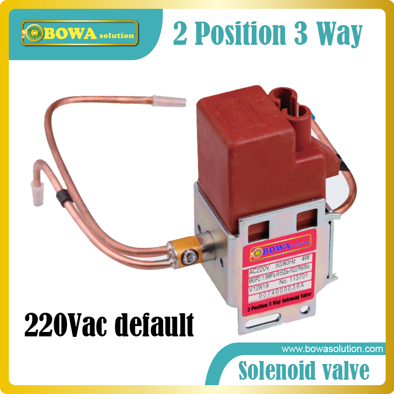 2-position 3-way Solenoid Valve in dual temperatures household refrigerators and freezers switch refrigerant flow direction three way valve allows a pressure relief device to be replaced in situ without removing the system refrigerant charge