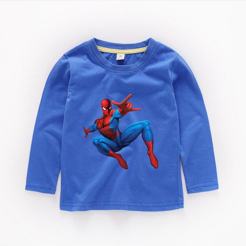 Boys or Girls Anime spiderman Print T shirt Kids Funny Clothes Baby Cartoon Long Sleeve T shirt,b206