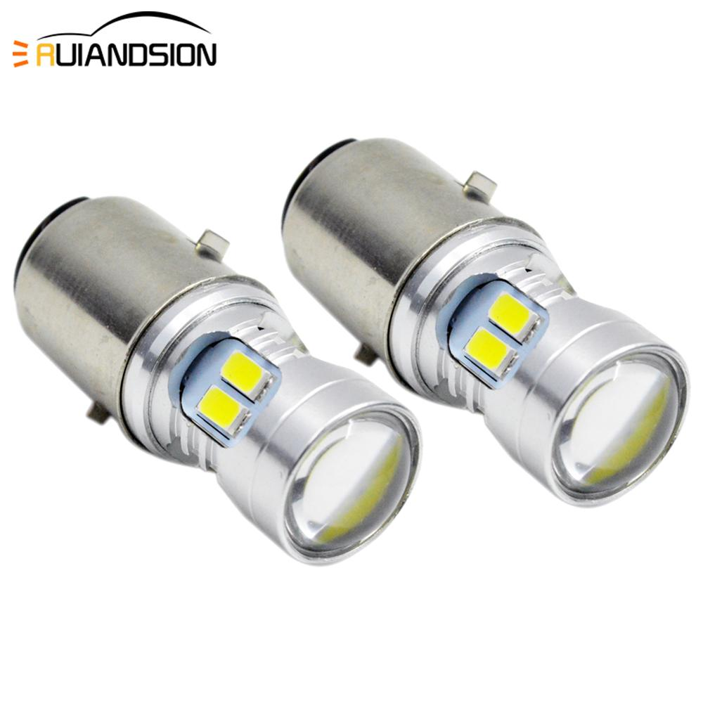 H6 BA20D LED 12 SMD 5730 Motorcycle Moto Bike Scooter ATV High/Low Bixenon 160lm/480lm Headlight Lamp Bulb 6000K White DC 6V 12V
