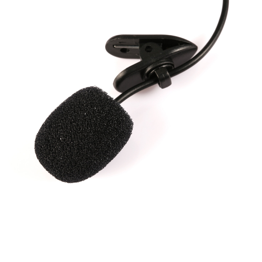 Marsnaska Universal 3.5mm Mini Headset Microphone Lapel Lavalier Clip For Lecture Teaching Conference Guide Studio Mic