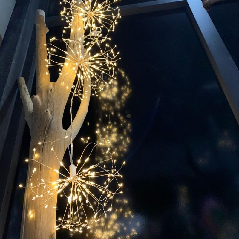 Diy Christmas Light Controller Kit: LED Dandelion Starburst Fireworks Copper String Lights