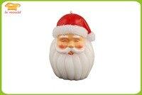 LXYY גינת סנטה חג מולד עובש נרות עובש קישוט עוגת עובש סיליקון