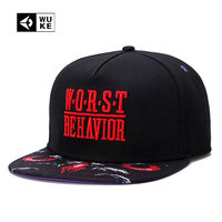 2015 Adjustable Baseball Brand 3D Printed WORST Hip Hop Snapback Cap For Men Women Baseball Cap