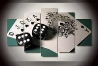 Emoldurado Pintura de Póquer do Resplendor de Dados Impressos em lona Cuadros Decoracion sala decoração cópia do cartaz da foto da lona Frete grátis