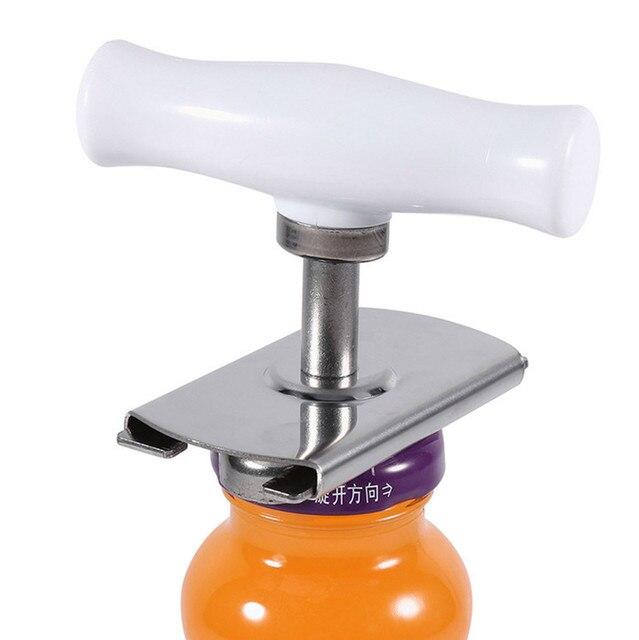 Stainless Steel Can Opener Adjustable Jar Openers Manual Spiral Seal Lid Remover Off Screw Bottle Easy Opener Kitchen Gadgets
