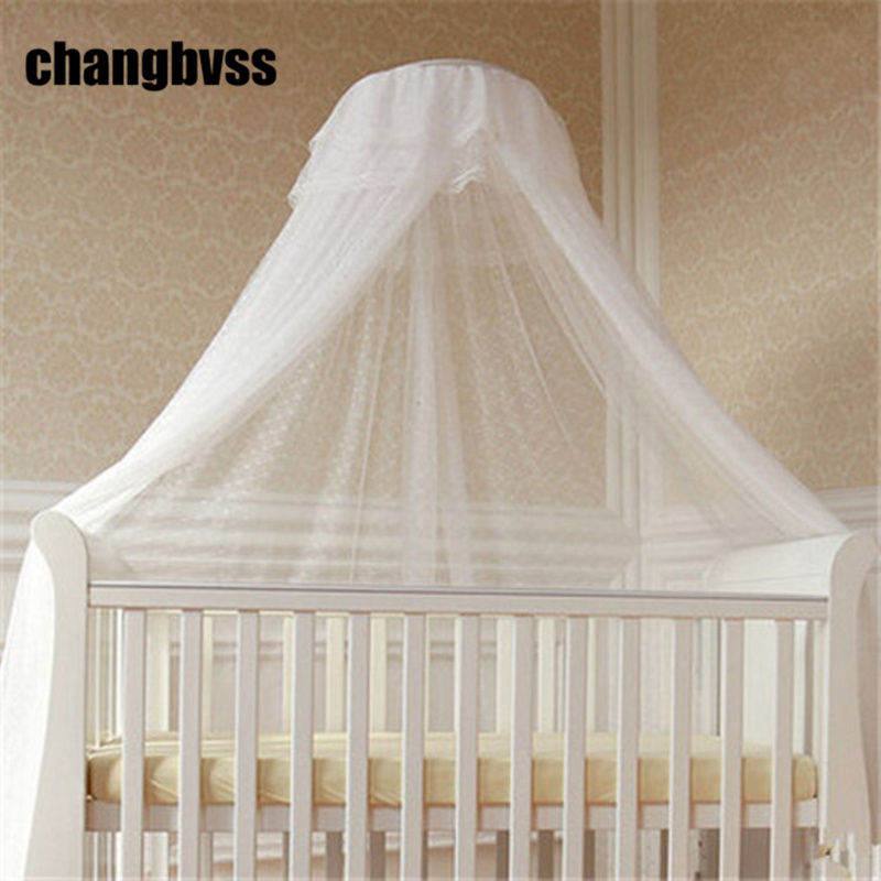 Children Room Decor Hung Dome Baby Crib Mosquito Net Princess Mosquito Nets For Baby Girls Infant Crib Netting Baby Bed Curtain 3pcs set pink baby bedding crib netting folding baby music mosquito nets bed mattress pillow baby crib for baby bed accessories