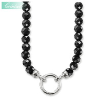 Necklace Black Obsidian With Clasp 9 Sizes 40 To 100cm For Women Casual Gift Thomas Style
