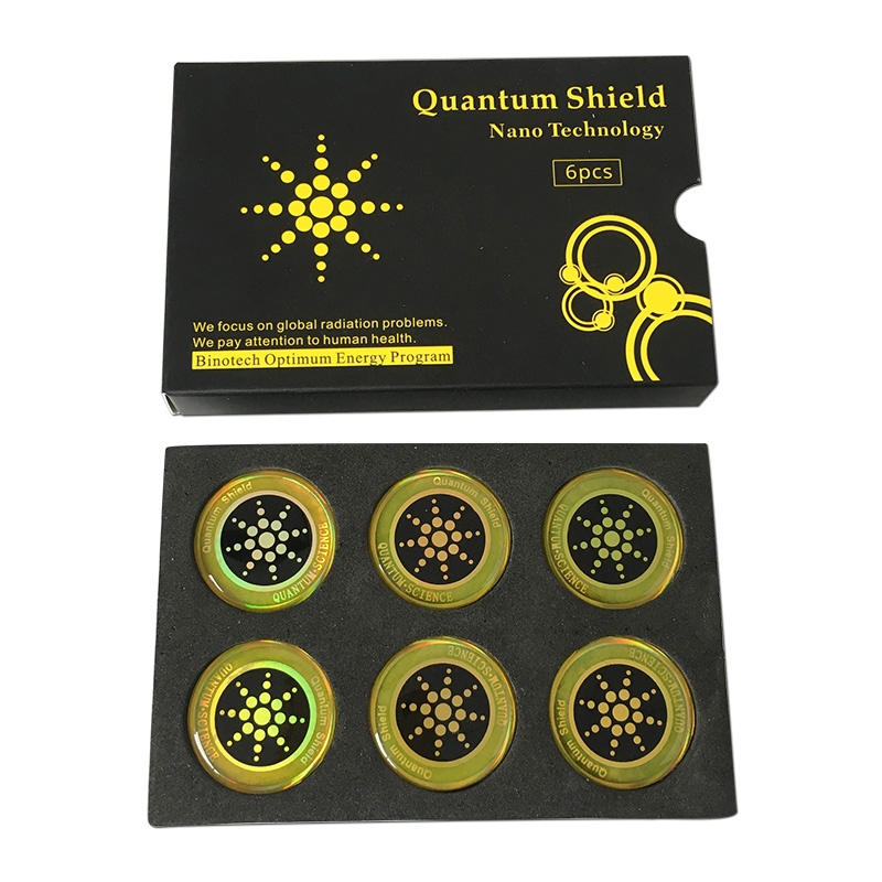 100 pièces autocollant de bouclier quantique autocollant de téléphone portable pour téléphone portable Anti-rayonnement Protection de Fusion EMF Excel Anti-rayonnement - 4