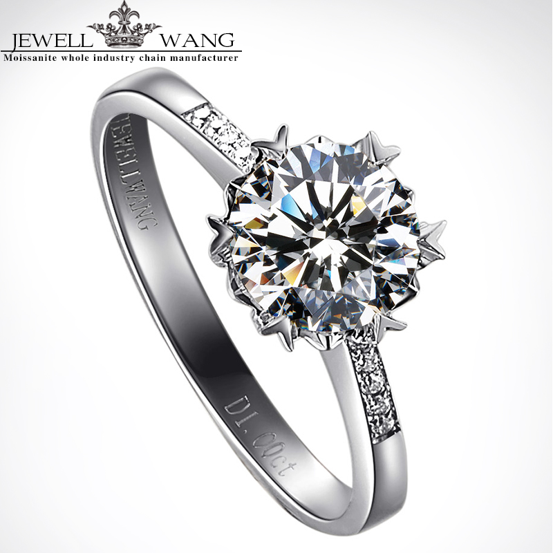 67a315a561dd Aliexpress.com  Comprar Jewellwang 18 k oro blanco anillo de copo de ...