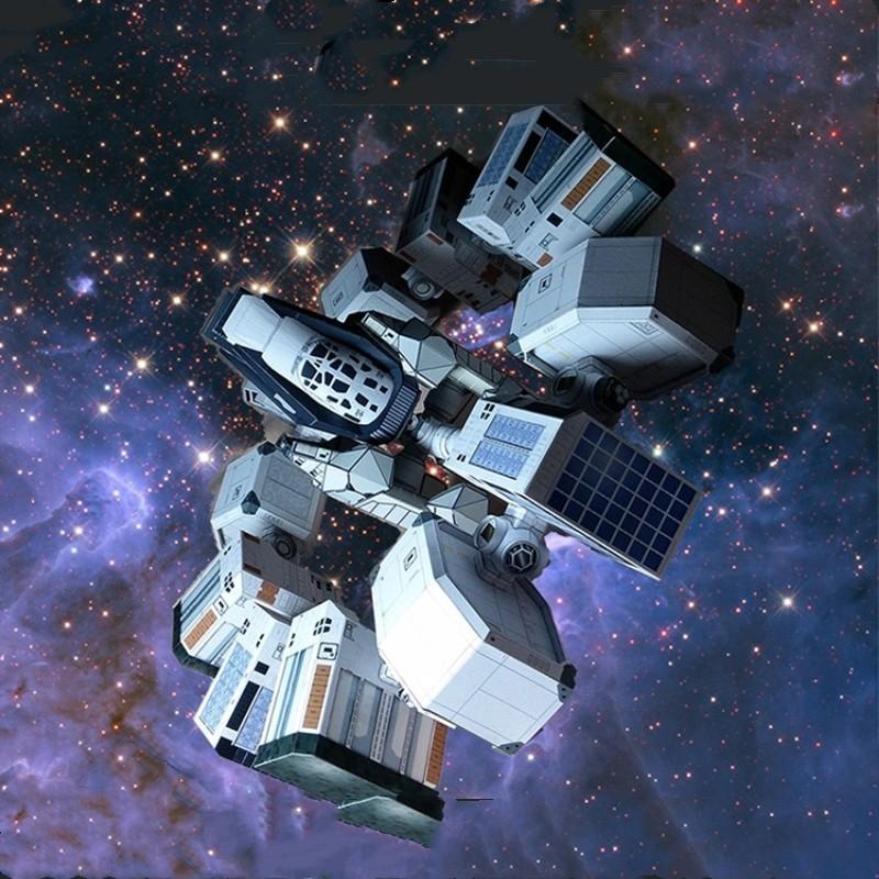 Interstellare Resistenza di Carta 3D Modello DIY Di Puzzle Scala In Miniatura di Un Edificio Kit Giocattolo Adulto Hobby Accademico