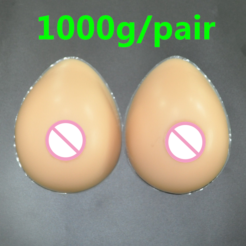 Buy 1000g/pair Artificial Breast Fake Boobs False Breasts Men  Crossdresser Drag Queen Shemale Transgender Breast Form Tape