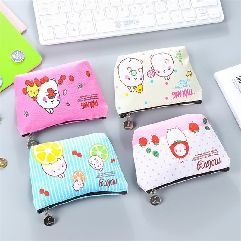 Dl Potato Rabbit Zero Wallet Mini Coin Bag Korean Cartoon Cute Children's Pocket Money Bag Exquisite Office Supplies Small Gift