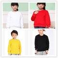 Vestuário infantil outono bebê menino e uma menina de moda camisola 100% algodão o-pescoço longo-luva moletons 0-12 T
