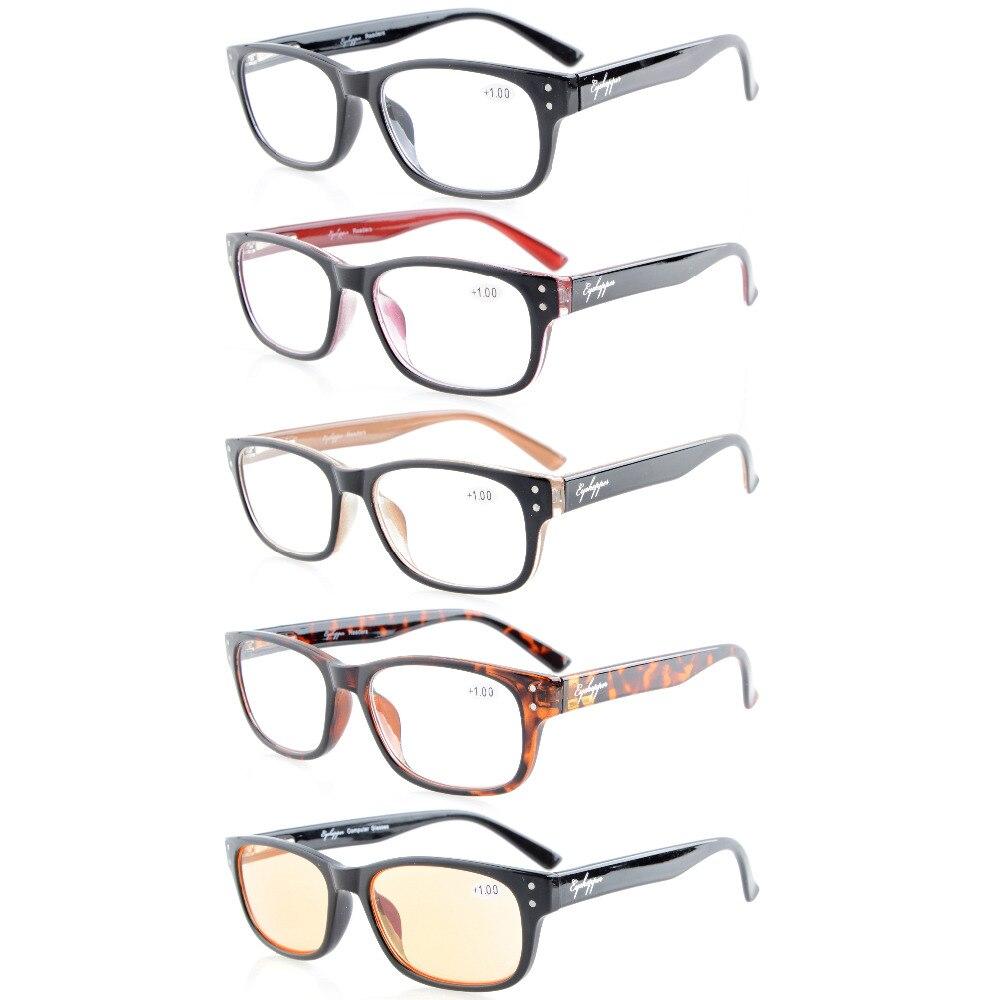 R094 mix eyekepper 5-pack primavera-dobradiças óculos de leitura de  qualidade incluem leitores óculos de computador das mulheres dos homens +  0.50 --- + ... 16a37fb3e6