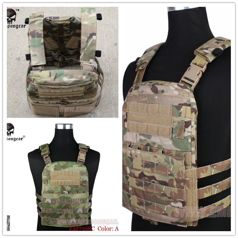 Emerson CP Style Lightweight AVS VEST Hunting Fabric AVS Vest Adaptive Vest Airsoft Combat Gear Multicam Black AOR1 AOR2 KH FG emerson gear lbt6094a style vest with pouches airsoft painball military army combat gear em7440g at fg aor1 aor2 kh cb mr hld