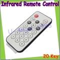 wholesale 10pcs/lot Mini Universal Infrared IR TV Set Remote Control Keychain Key Ring 20 Keys DropShipping