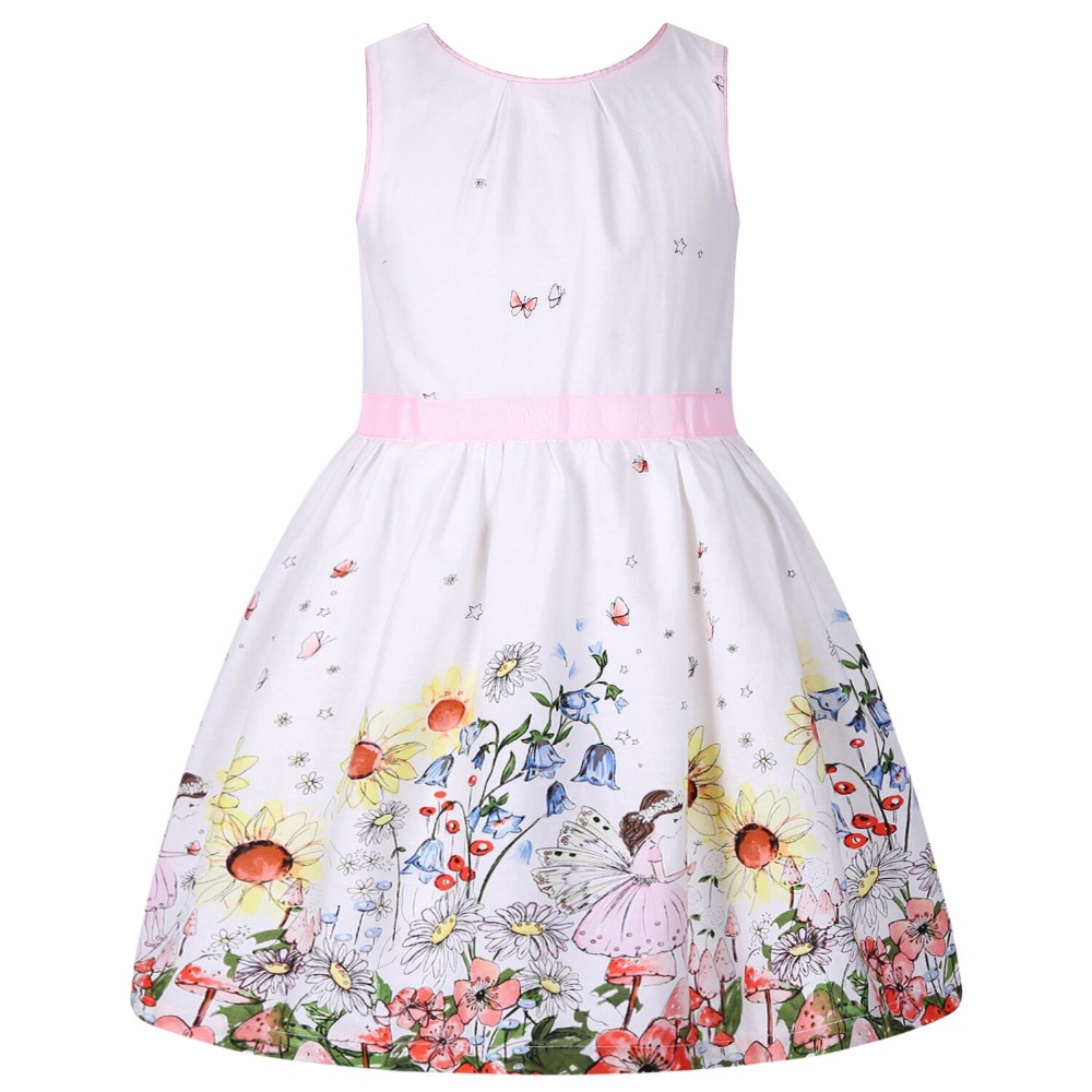 Flower Girl Dresses Summer Children Dress 2017 Brand Costume Robe Enfant Fille Flower Kids Clothes Party Dress hello kitty 2-10Y black batman summer baby girl lace tutu dress bowknot kids halloween cosplay party dresses robe princesse fille children costume