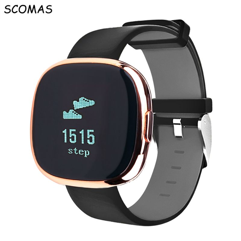 SCOMAS P2 Bluetooth Smart Watch Smart Bracelet OLED touch screen Heart Rate Monitor Activity Fitness Sleep