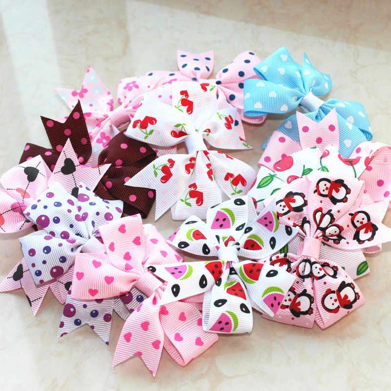 Ручной работы Цветы ленты банты для маленьких девочек детский зажим для волос шпилька аксессуары для детей заколка с бантиком шпильки головные уборы оптовая продажа