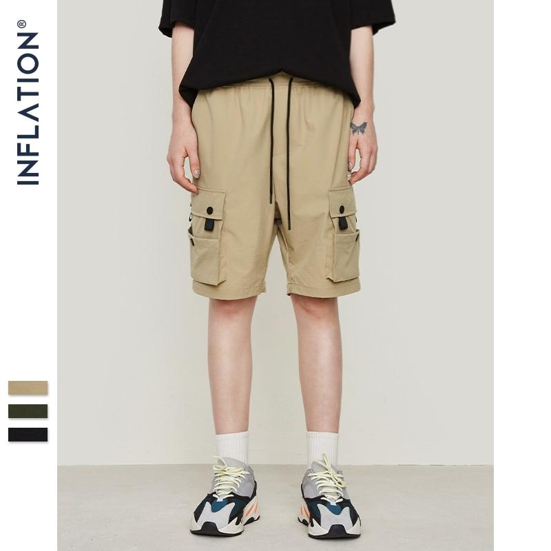 INFLATION New design fashion hip hop streetwear men's shorts high street shorts Mmulti pocket casual shorts 9310S