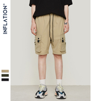 INFLATION New design fashion hip hop streetwear men's shorts high street shorts Mmulti pocket casual shorts 9310S
