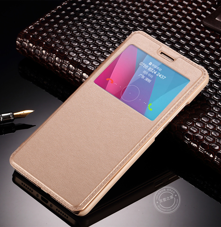 KC Luxury Classic Ultra Slim Leather Window View Flip Cover Casefor Huawei Y6 Pro Y 6 Y6Pro 6Pro Honor 4C Pro TIT-AL00 TIT-L01 T