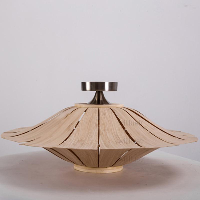 Willlustr bamboo Wall Lamp wood Wall sconce UFO lighting umbrella ...