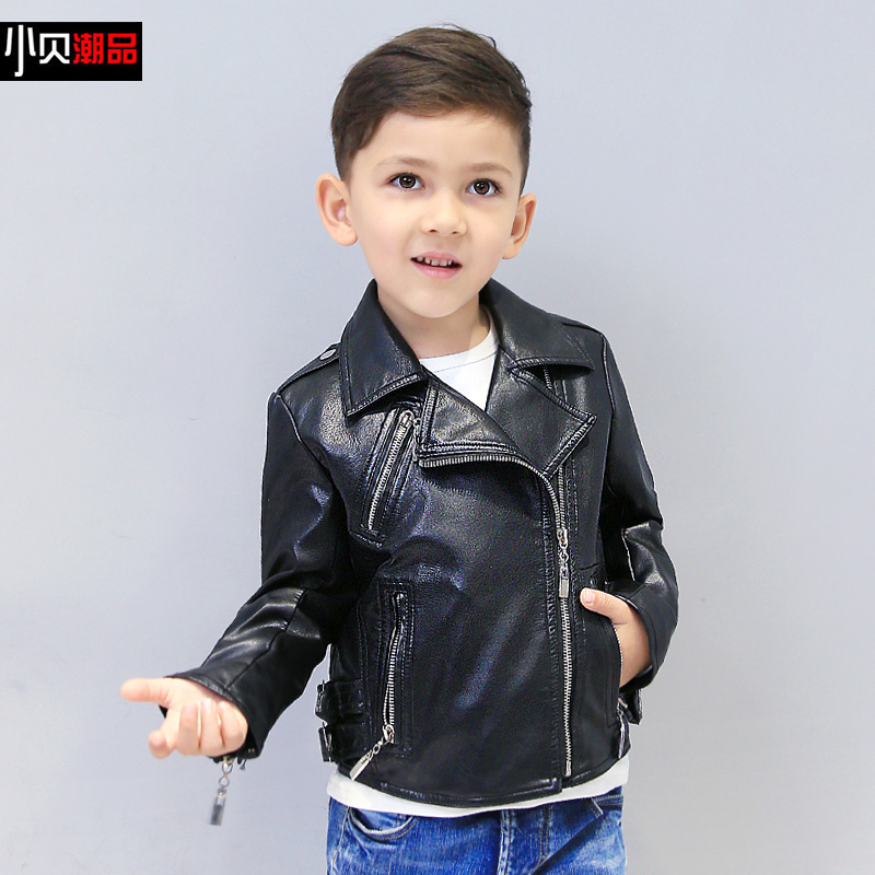 2016 autumn new in boys children leather jacket children s clothing new arrival child baby