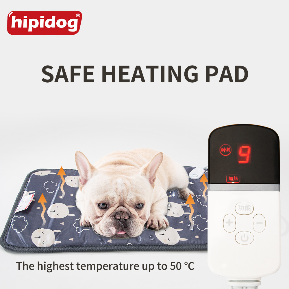 Hipidog Dog Blanket Heating Mat Electric Pad for Cats Heated Warmer Bed Waterproof Carpet Pet Winter US/AU/UK/EU Plug for free