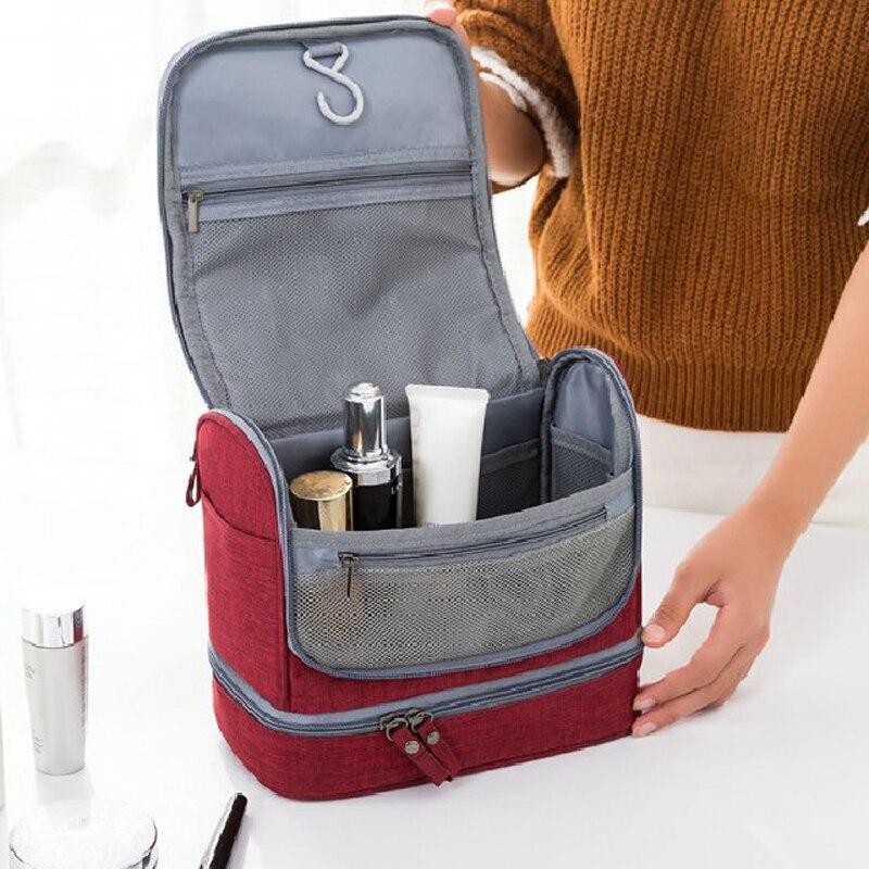 Naiset Miehet Travel Bag Kannettava Makeup Bag Hanging Kosmetiikka - Kodin varastointi ja organisaatio - Valokuva 2
