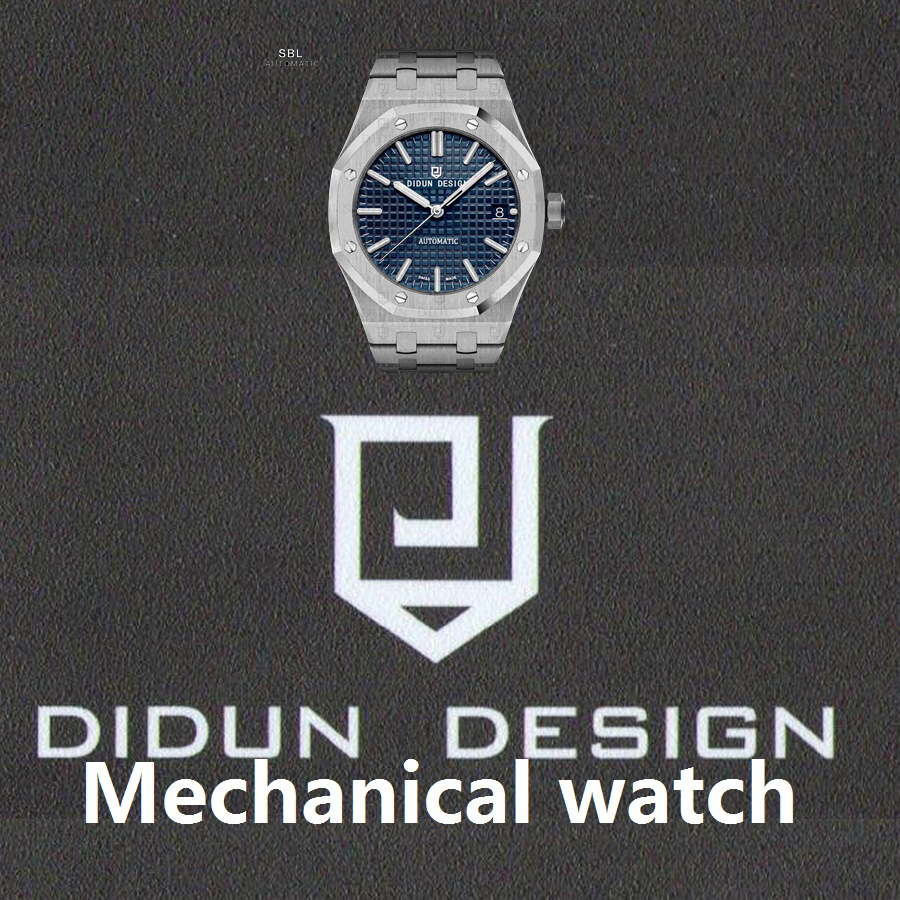 DIDUN Men Watches Top Brand Luxury Mechanical Automatic Watch Rosegold Male Fashion Business Watch Luminous Wristwatch didun mens automatic mechanical watches top brand luxury watches men steel army military watches male business wristwatch clock