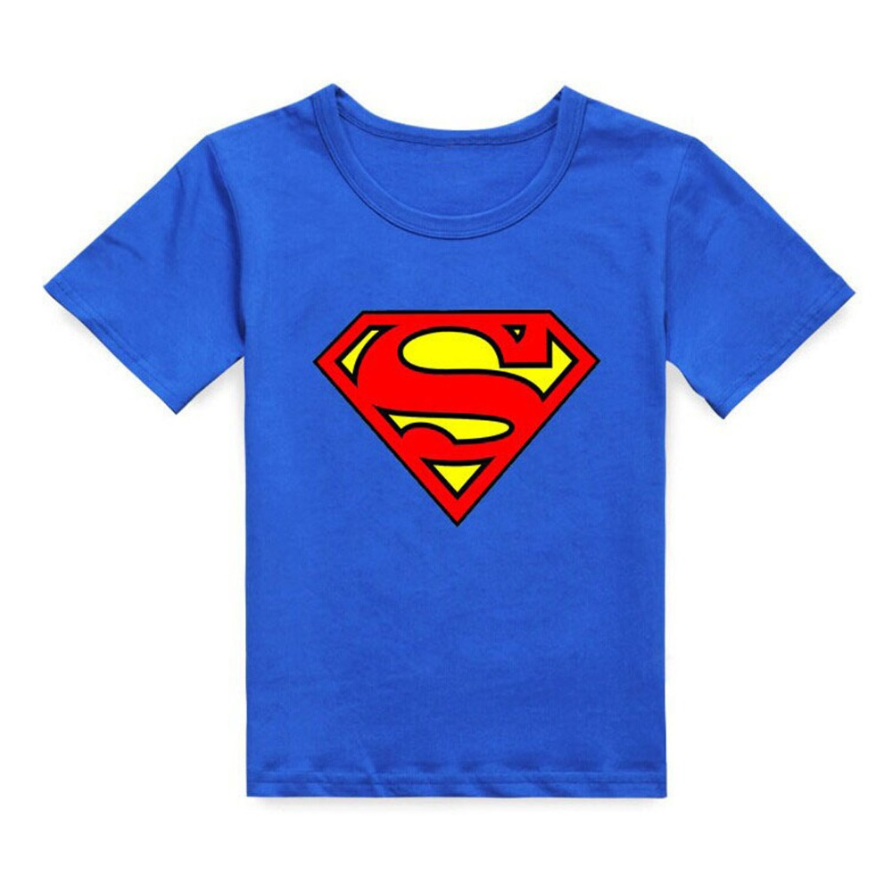 Brand New Cotton Kids Boys Superman T-Shirt Short Sleeve Children Tees Costume Top Boy Summer Clothes goowiiz серебряный черный huawei p10