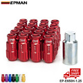 EPMAN RACING RS TYPE FORGED ALUMINUM LOCK LUG NUTS 12X1.25 EP-E650H-1.25-FS