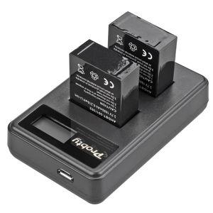 Image 5 - Oryginalna probty dla GoPro hero 3 hero 3 + hero 3 hero 3 + bateria + podwójna ładowarka LCD dla go pro AHDBT 301 akcesoria do kamery