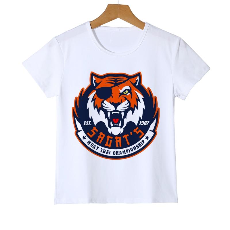 Spring Summer baby girl summer T-shirt Harajuku Kids Tiger T Shirt White Tiger Top Tee T shirt Tops baby girl kids clothes Z33-4