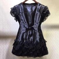 Черные платья для Для женщин вечерние элегантный короткий рукав платье леди 2018 модные женские туфли бальное платье мини платье