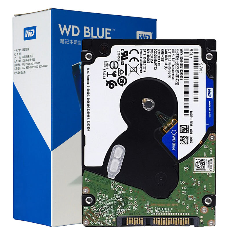 Western Digital WD Blue 4TB 2.5'' Mobile Hard Disk Drive 15mm 5400 RPM SATA 6Gb/s 8MB Cache 2.5 Inch For PC WD40NPZZ