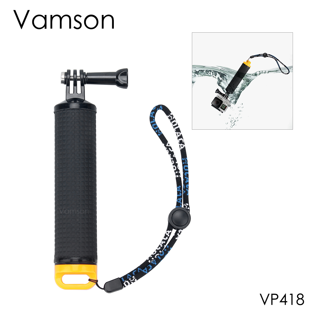 Vamson for Gopro Accessories Floaty Bobber Handheld Monopod Grip selfie stick For GoPro Hero 5 4 3 for Xiaomi yi for SJCAM VP418