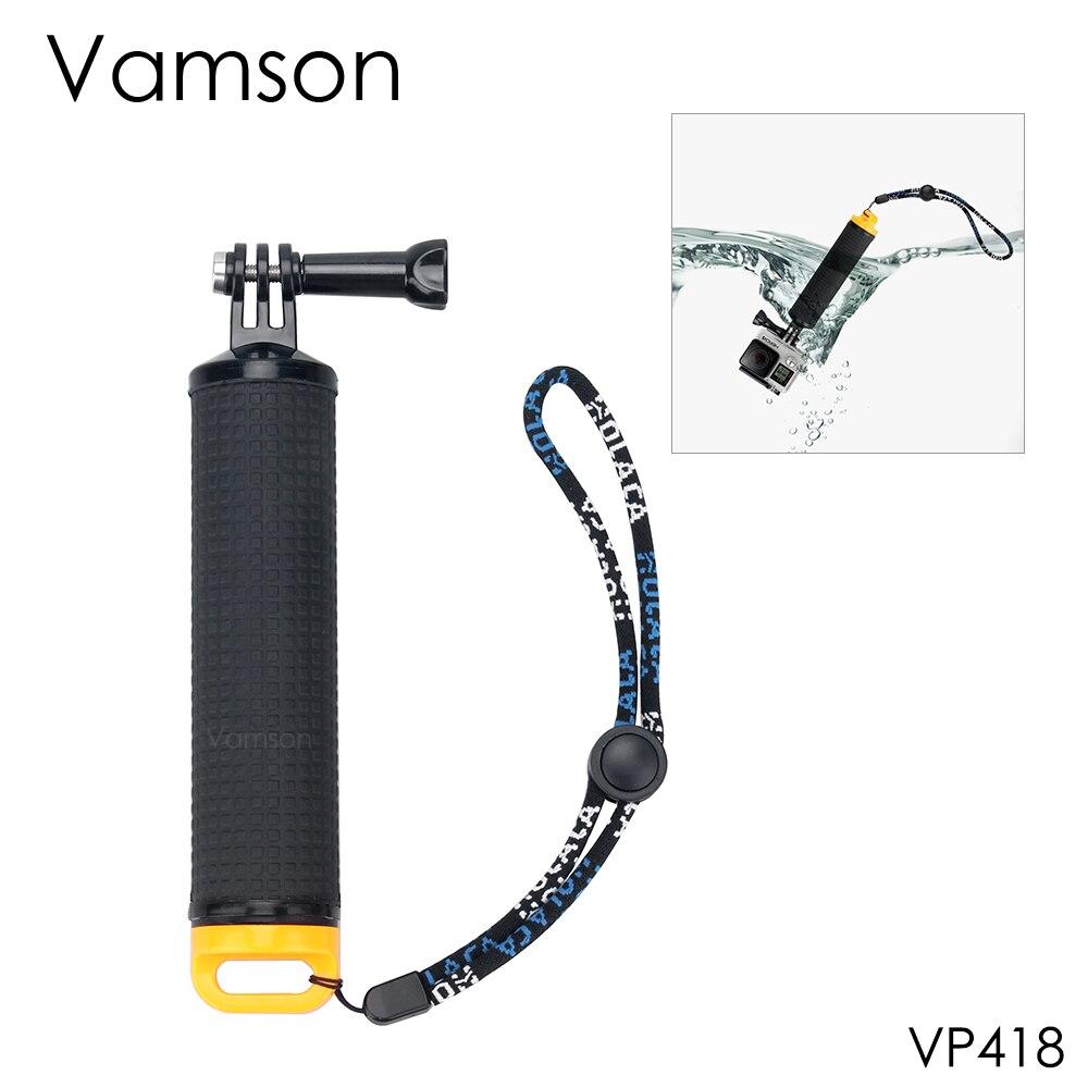 Vamson pour Gopro Accessoires Floaty Bobber Poche Manfrotto Grip selfie bâton Pour GoPro Hero 5 4 3 pour Xiaomi yi pour SJCAM VP418