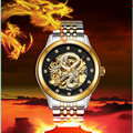 Роскошные Мужские автоматические механические часы Carotif Montre Homme  водонепроницаемые часы из нержавеющей стали  мужские часы с изображением д...