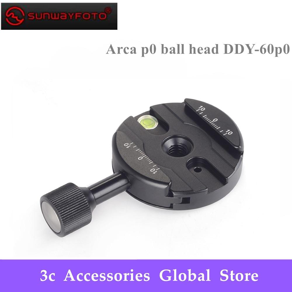 SUNWAYFOTO DDY 60P0 Quick Release Clamp For Arca P0 Tripod Head QR Clamp Tripod Ballhead Quick