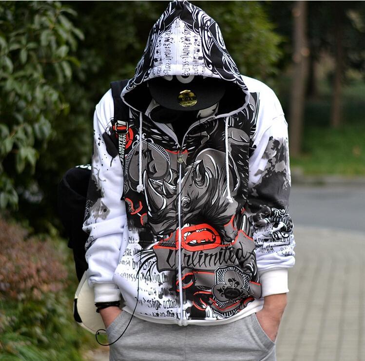Jacket Men Hip Hop Hooded Jacket Men Street Man Jacket Euro Plus Size Coat Men Tops