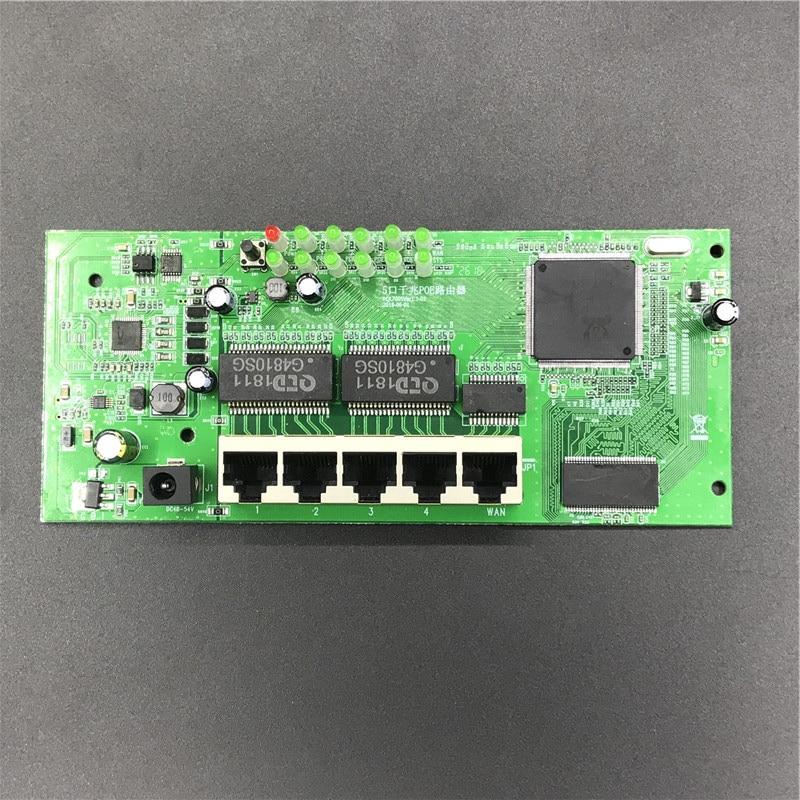 Le fabricant de module de routeur de POE d'oem 5 ports vendent 5 modules complets de routeur de Gigabit 10/100/1000 M POE 48V2A