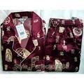 Бесплатная поставка Китайских людей Silk Район 2 шт. Ночное Одеяние пижамы пижамы Наборы Ванна Платье L XL XXL SH006